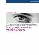 Gender Diversity in top management : moving corporate culture, moving boundaries
